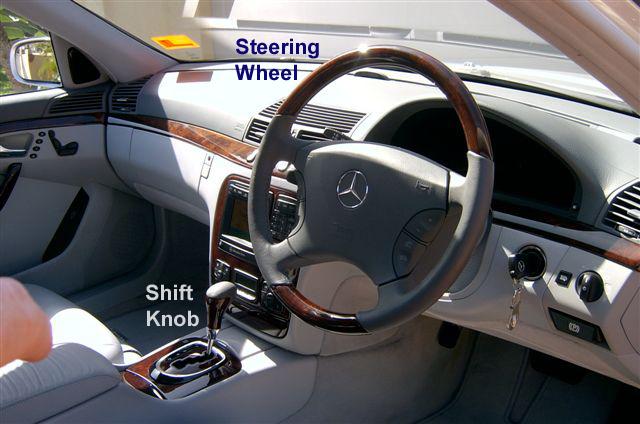 S500 W220 SteeringWheel & Shift Knob 00-06