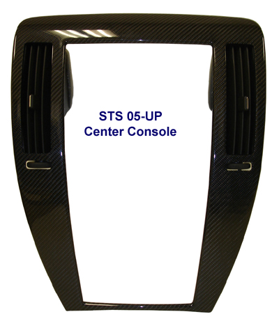 STS Black CF-Center Console - 400