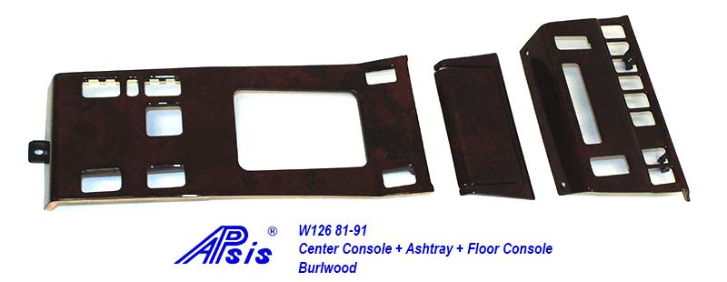 W126 Center Console + Floor Console-burlwood-1