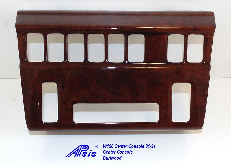 W126 Center Console-burlwood-1
