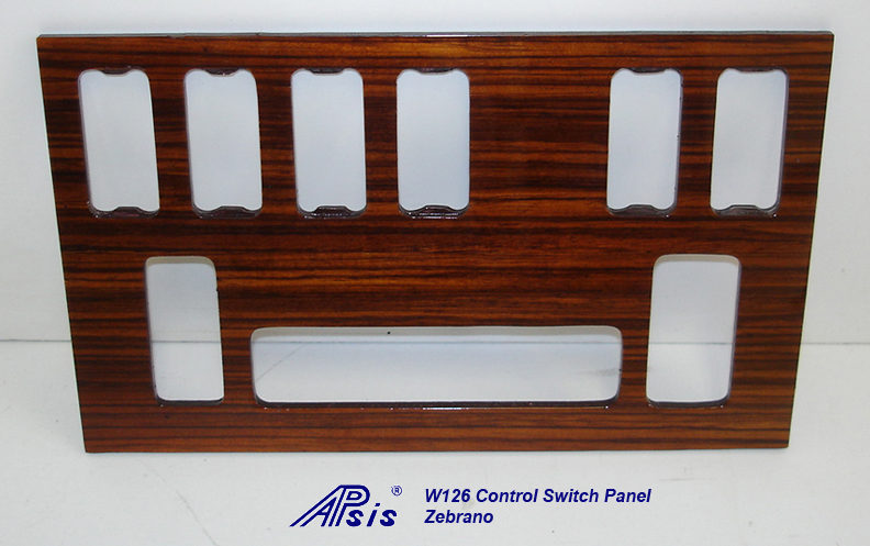 W126 Control Swtich Panel-zebrano-2