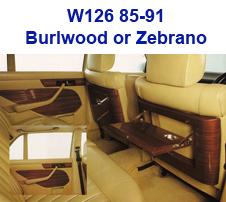 W126 Wood Dash 85-91