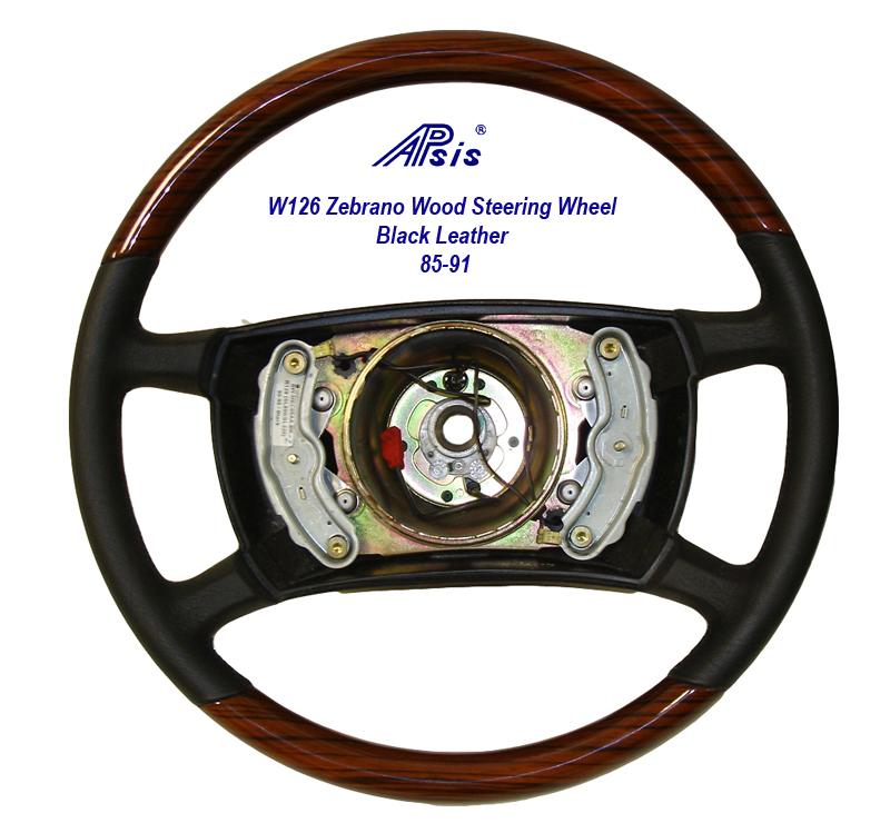Mercedes steering wheel w107 w124 w126 apsisusa for Mercedes benz wood steering wheel