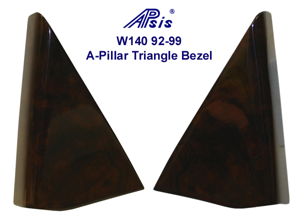 W140  92-99 A-Pillar Triangle Bezel- 600