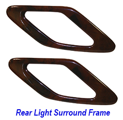 W140 92-99 Rear Light Wood Frame Pair - 250