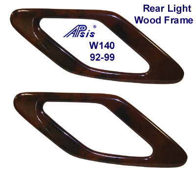 W140 92-99 Rear Light Wood Frame Pair - 400