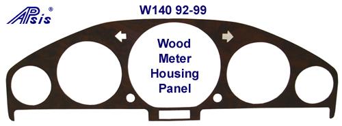 W140  92-99 Wood Meter Housing Panel - 500