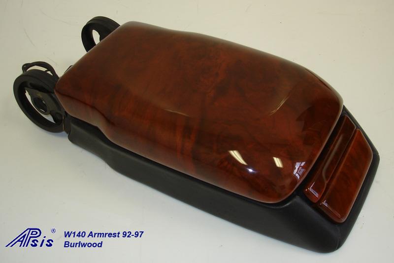 W140 Armrest w-o split w-black base-burlwood-2