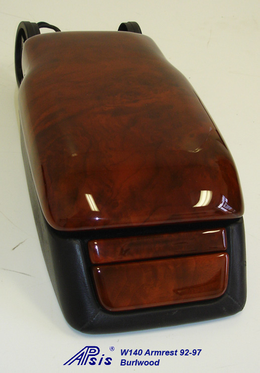W140 Armrest w-o split w-black base-burlwood-3