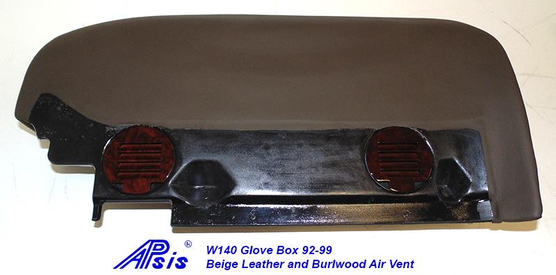 W140 Glove Box-beige w-beige stitching w-wood air vent-3