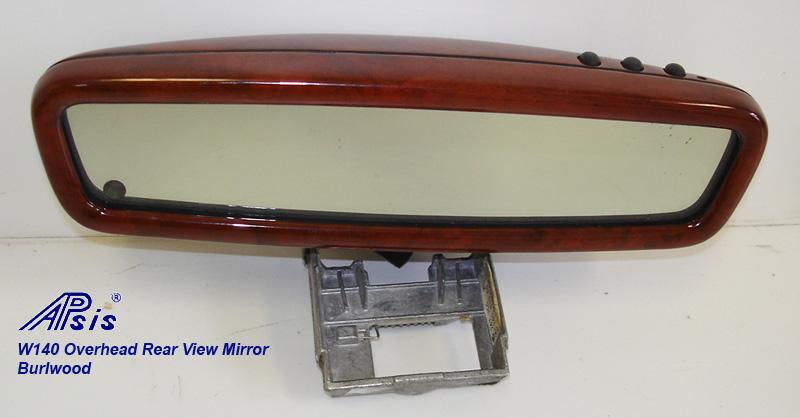 W140 Overhead Rear View Mirror-burlwood-individual-1