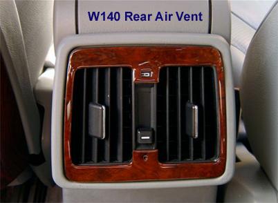 W140 Rear Air Vent 92-99