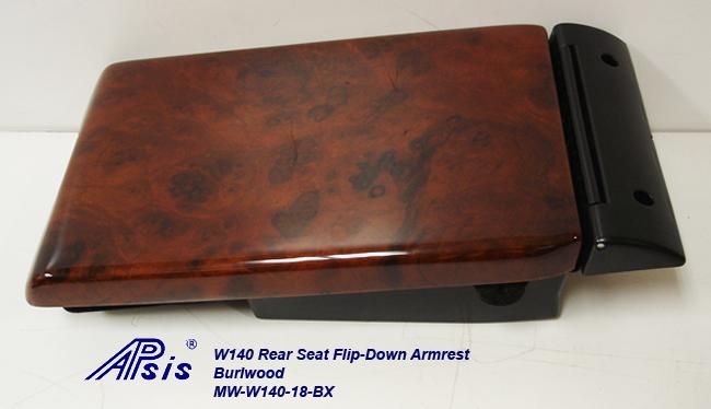 W140 Rear Seat Flip-down Armrest-burlwood-individual-3