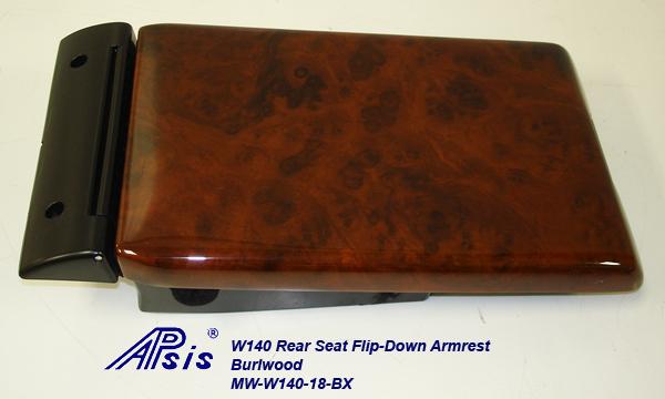 W140 Rear Seat Flip-down Armrest-burlwood-individual-4