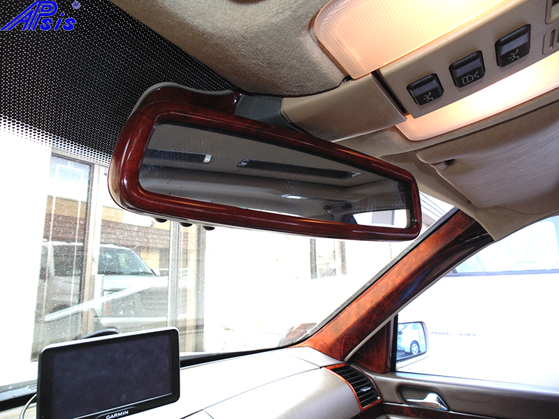 W140 Rear View Mirror-burlwood-installed-1 800