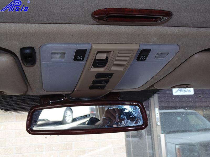 W140 Rear View Mirror-burlwood-installed-2 800