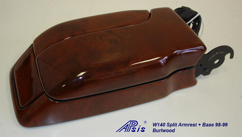 W140 Split Armrest+Base-burlwood-individual-2