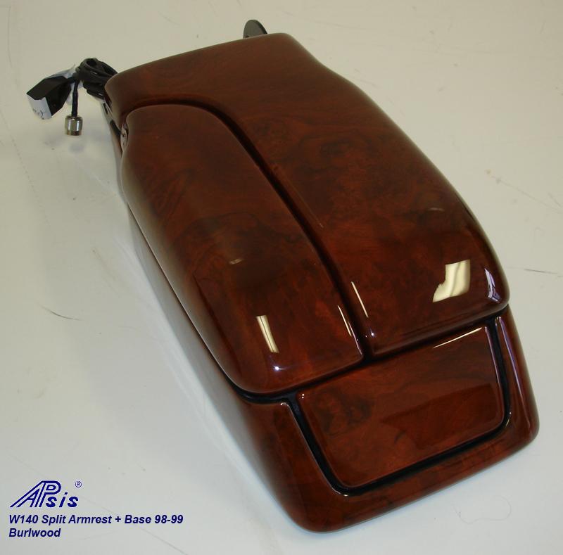 W140 Split Armrest+Base-burlwood-individual-5