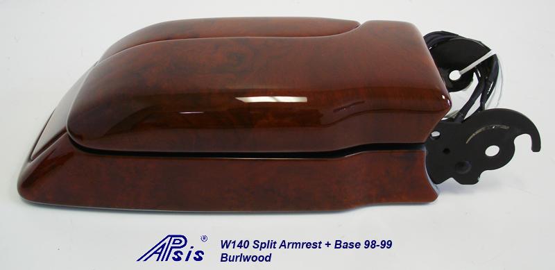 W140 Split Armrest+Base-burlwood-individual-6