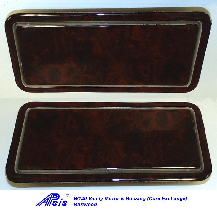 W140 Vanity Mirror & Housing-burlwood-1