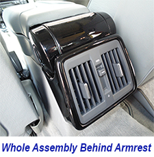 W140 Whole Assembly Behind Armrest-black piano 225