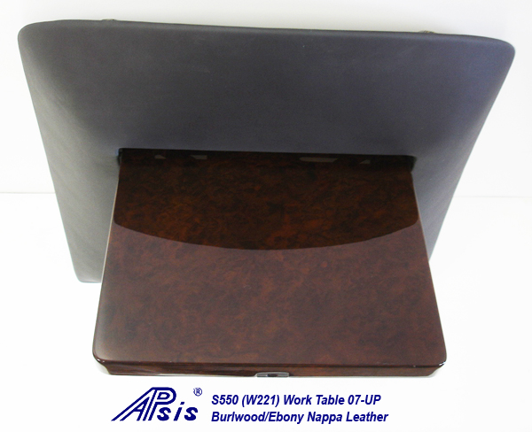 W220 Work Table-ebony nappa-individual-flip down-straight view-2