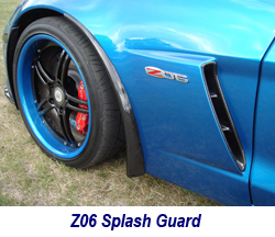 Z06 CF Splash Guard installed on jsb z06 250