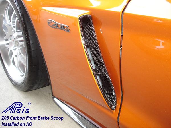 Z06 Carbon Front Brake Scoop-installed on AO-2