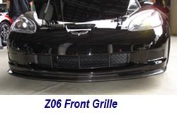 Z06 Carbon Front Grille-installed on black car-2 crop 250