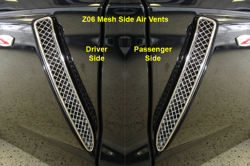 Z06 Mesh Side Air Vent black-individual-pair- 800