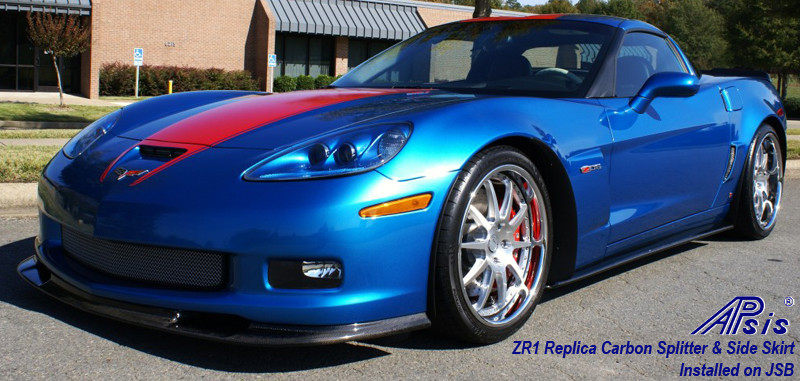 ZR1 Carbon Splitter + Side Skirt-installed on jsb from ron-1