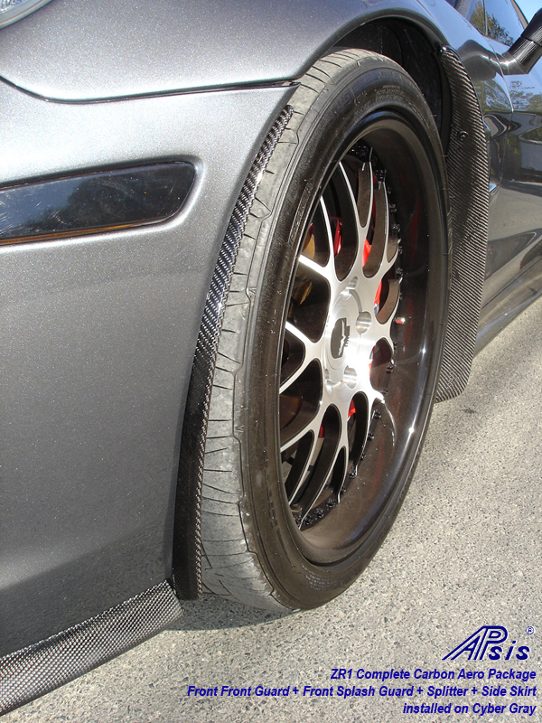 ZR1 Front Front Guard-carbon-installed on CG-2-driver-front view