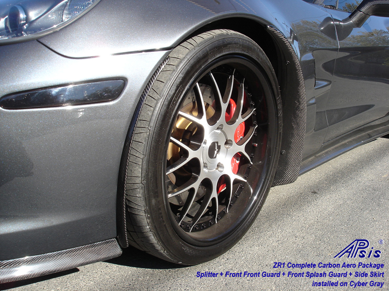 ZR1 Front Front Guard-carbon-installed on CG-3-driver-front view