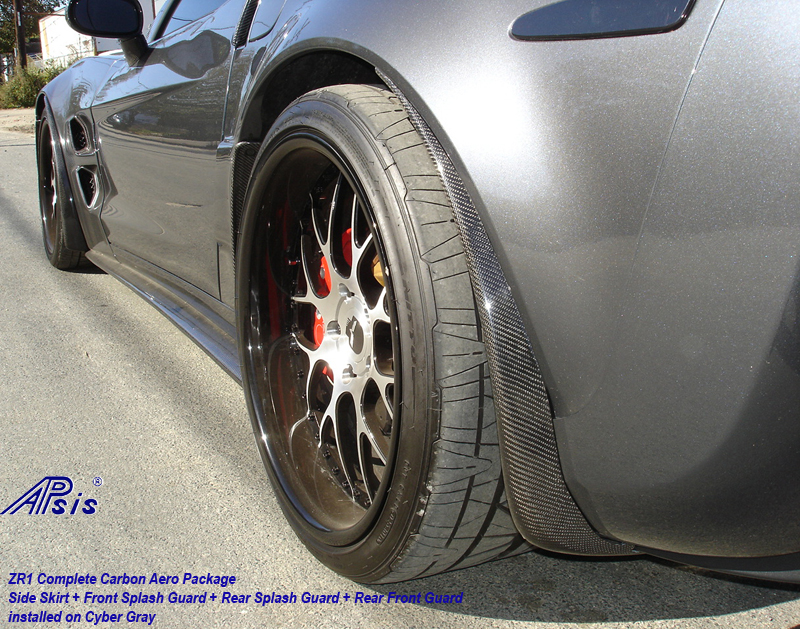 ZR1 Side Skirt-carbon-installed w-carbon guards-driver-2 whole view-crop