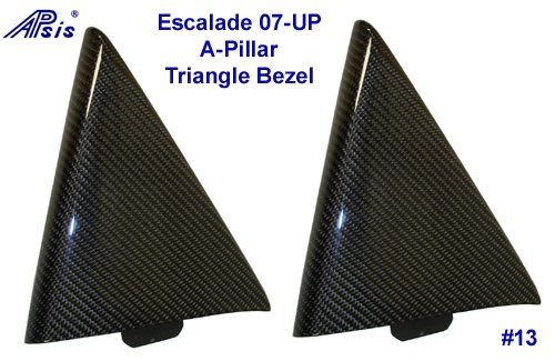 07 Escalade Black CF-A-Pillar Triangle Bezel-500