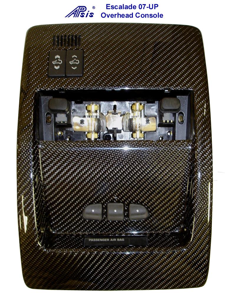 07 Escalade Black CF-Overhead Console-726