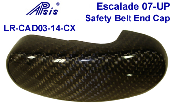 07 Escalade Black CF-PF Safety Belt Holder Cap-350