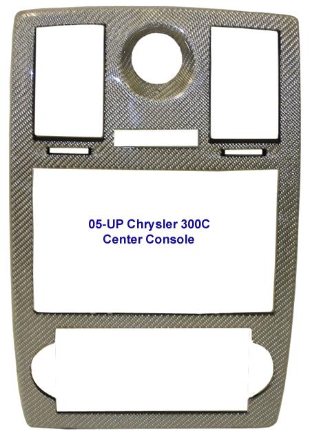 300C Silver CF Center Console- 450