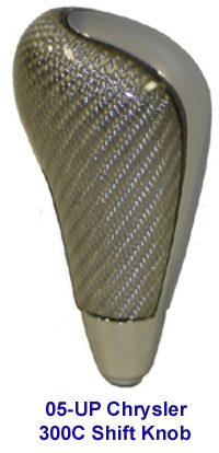 300C Silver CF Shift Knob - 200