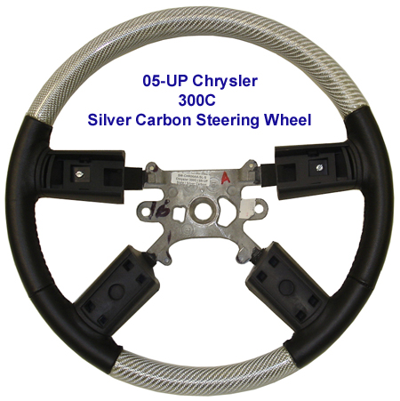 300C Silver CF Steering Wheel-450