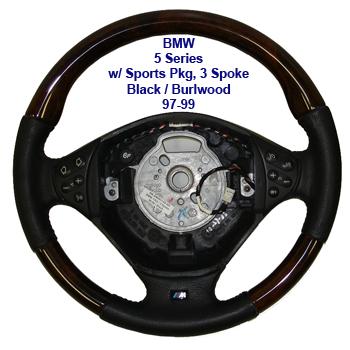 5 Series-3 spokeblack-burl- 97-99
