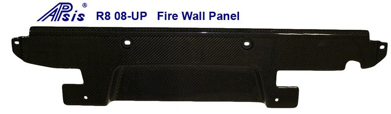 Audi R8-Black CF-Back Fire Wall Panel-800