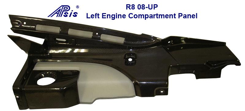 Audi R8-Black CF-Left Engine Compartment Panel-800