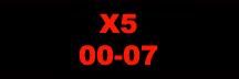 BMW X5 00-07