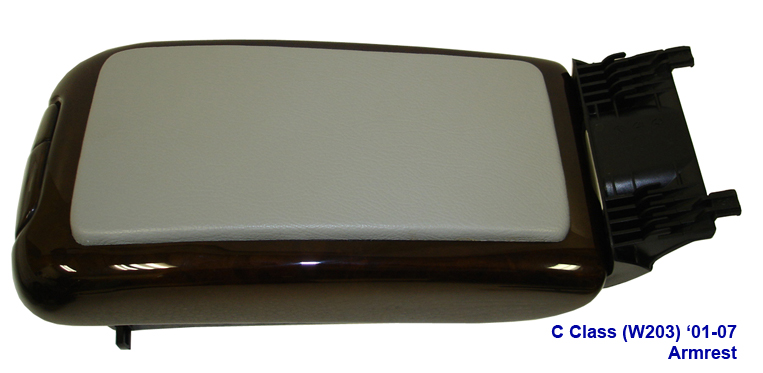 C Class (W203) Lamination Wood-Armrest w-grey leather-1-side view-done-763