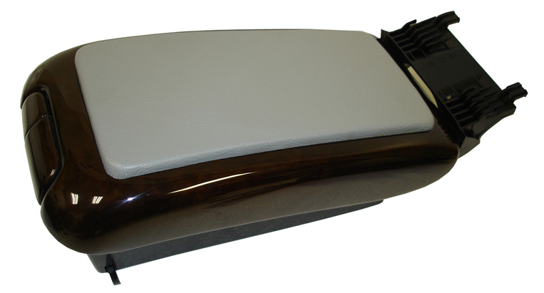 C Class (W203) Lamination Wood-Armrest w-grey leather-2-side view-done-763