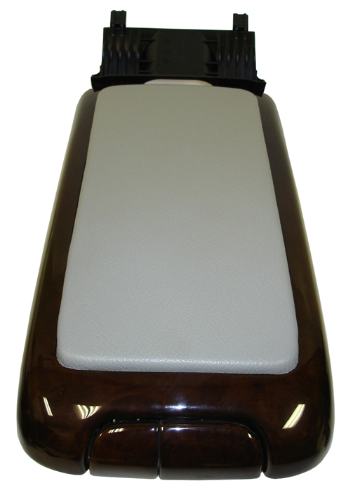 C Class (W203) Lamination Wood-Armrest w-grey leather-3-front view-done-503