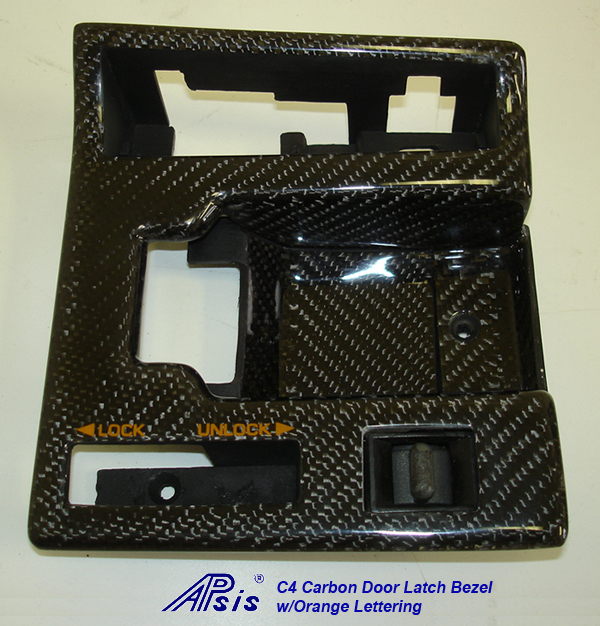 C4 CF Door Latch Bezel w-orange lettering-individual-2a