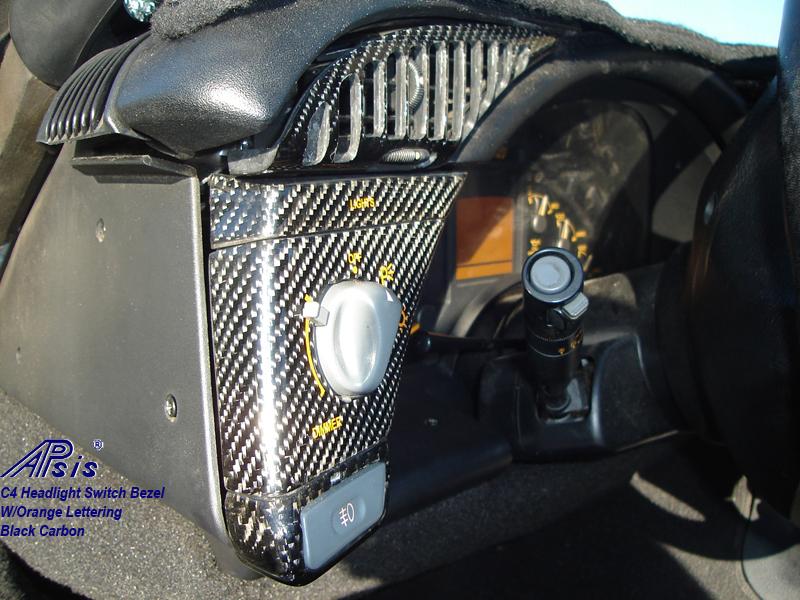 C4 Carbon Headlight Bezel-installed-1