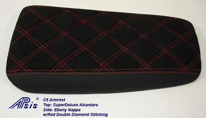 C5 Amrest-EB+SAL w-red double diamond stitching-2